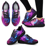 Purple Galaxy Space Blue Stardust Print Women's Athletic Shoes GearFrost