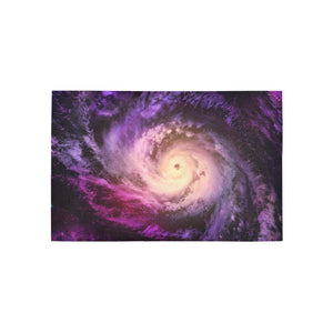 Purple Galaxy Space Spiral Cloud Print 3 x 5 Indoor Area Rug GearFrost