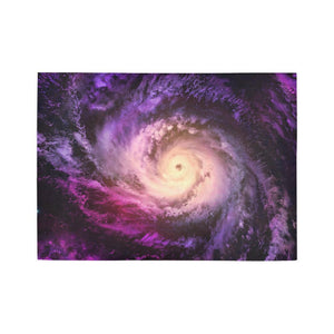 Purple Galaxy Space Spiral Cloud Print 5 x 7 Indoor Area Rug GearFrost