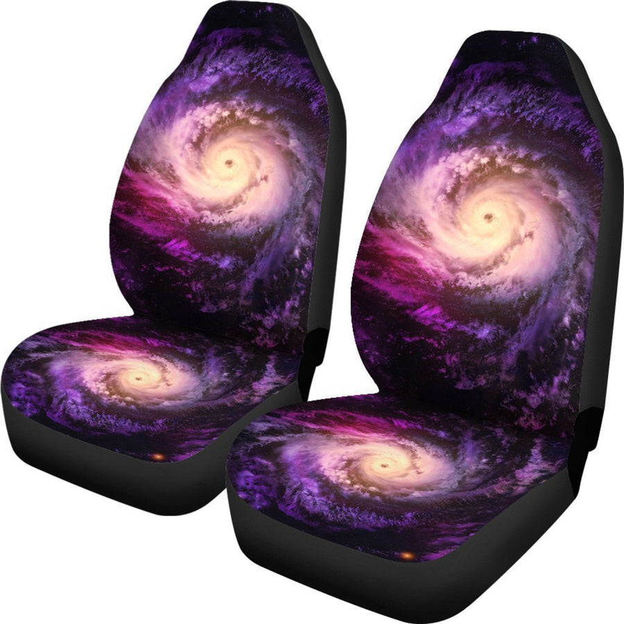 Purple Galaxy Space Spiral Cloud Print Universal Fit Car Seat Covers GearFrost