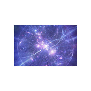 Purple Light Circle Galaxy Space Print 3 x 5 Indoor Area Rug GearFrost