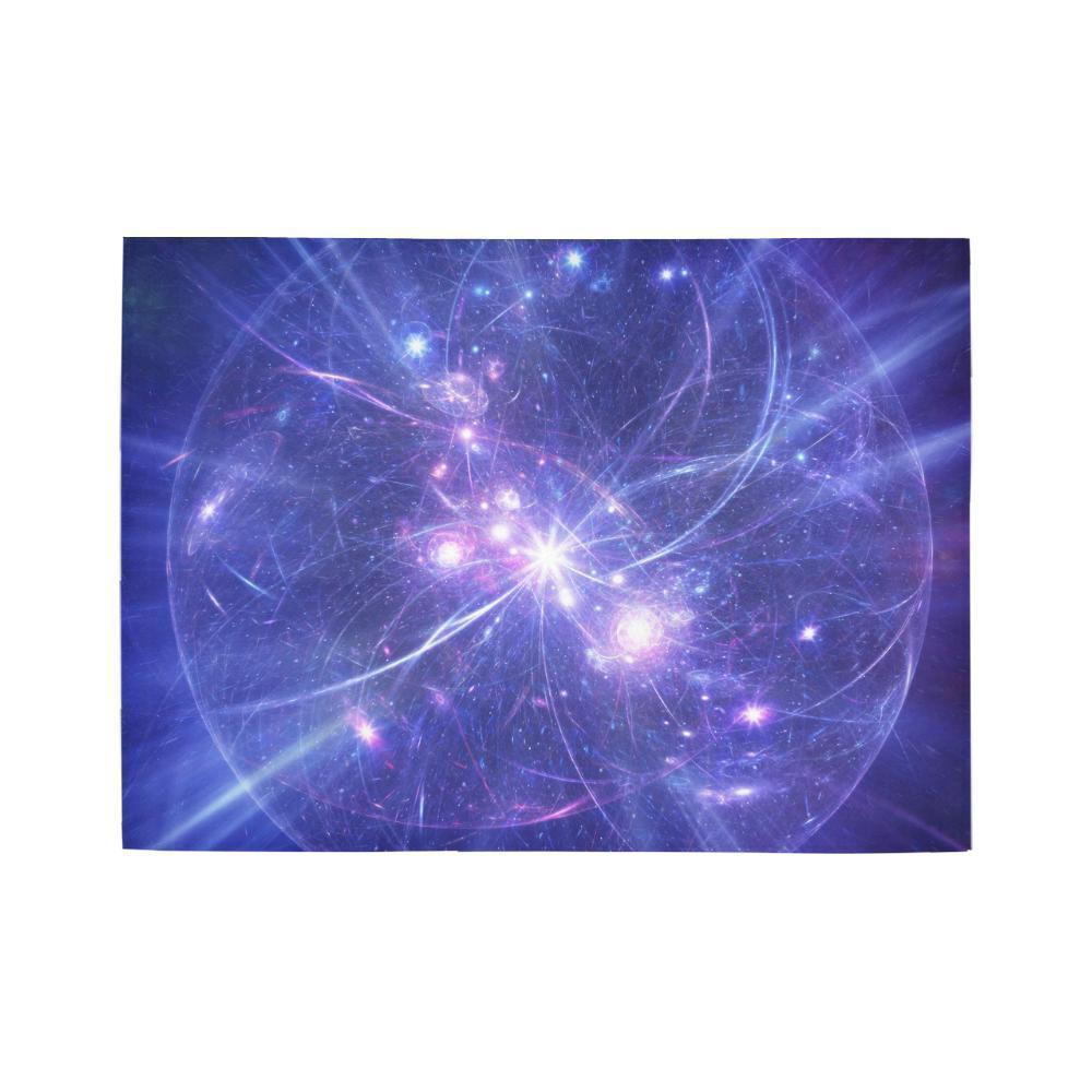 Purple Light Circle Galaxy Space Print 5 x 7 Indoor Area Rug GearFrost