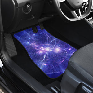 Purple Light Circle Galaxy Space Print Front and Back Car Floor Mats GearFrost