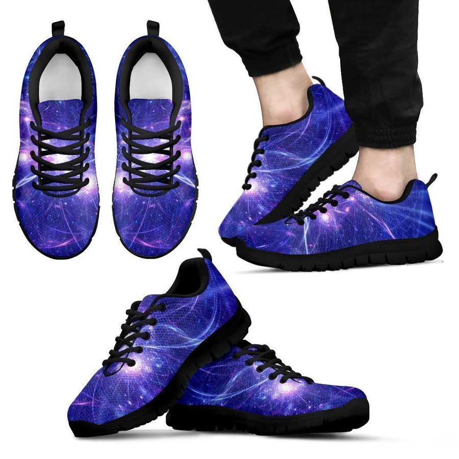 Purple Light Circle Galaxy Space Print Men's Sneakers GearFrost