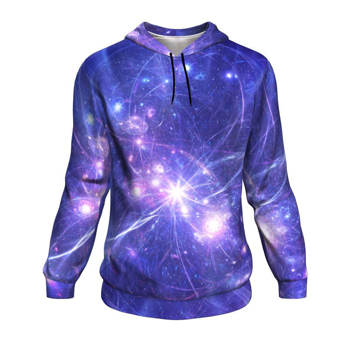 Purple Light Circle Galaxy Space Print Unisex Pullover Hoodie GearFrost
