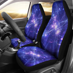 Purple Light Circle Galaxy Space Print Universal Fit Car Seat Covers GearFrost