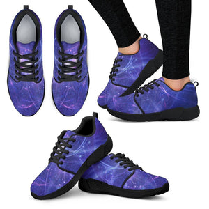 Purple Light Circle Galaxy Space Print Women's Athletic Shoes GearFrost
