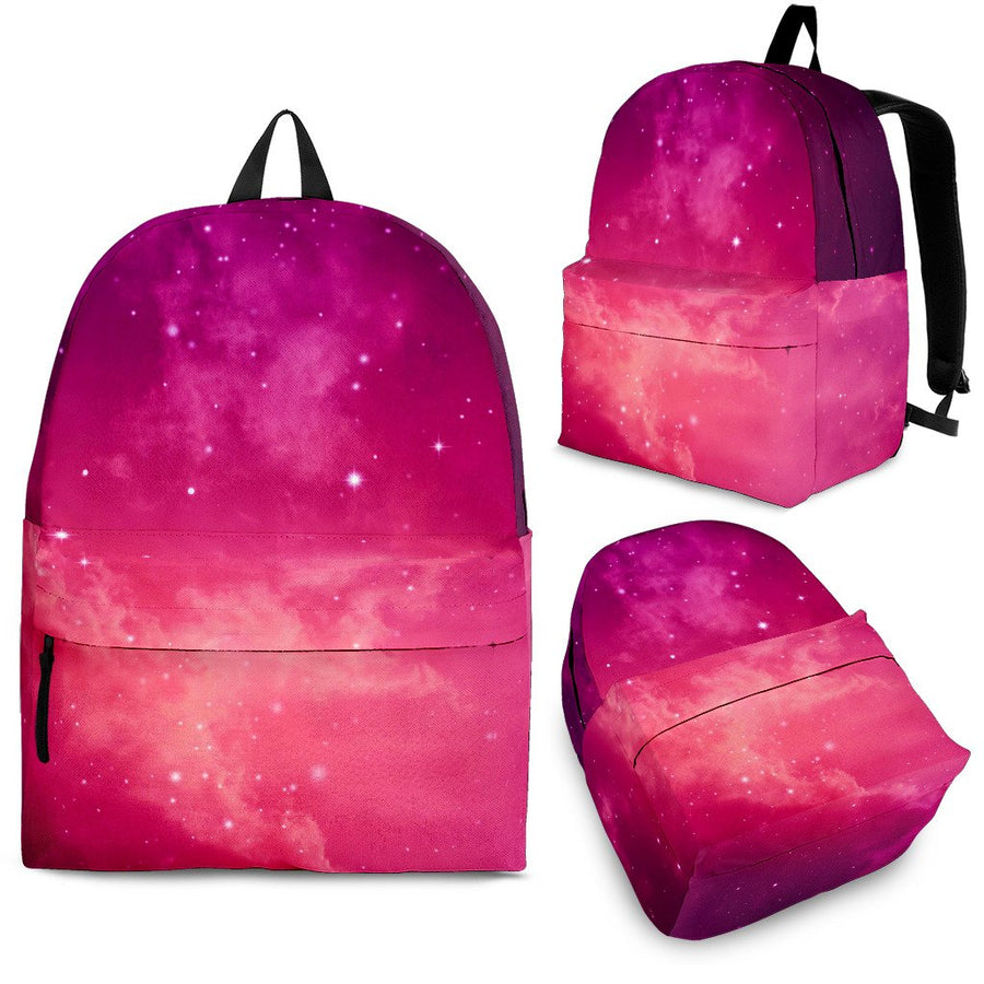 Purple Nebula Cloud Galaxy Space Print Backpack GearFrost