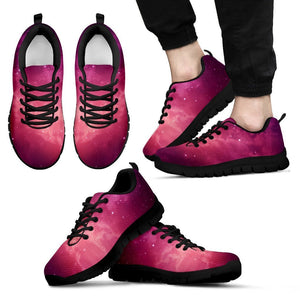 Purple Nebula Cloud Galaxy Space Print Men's Sneakers GearFrost