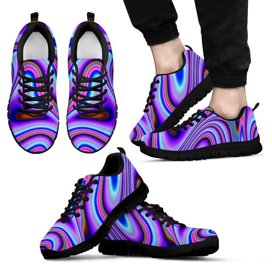 Purple Psychedelic Trippy Print Men's Sneakers GearFrost