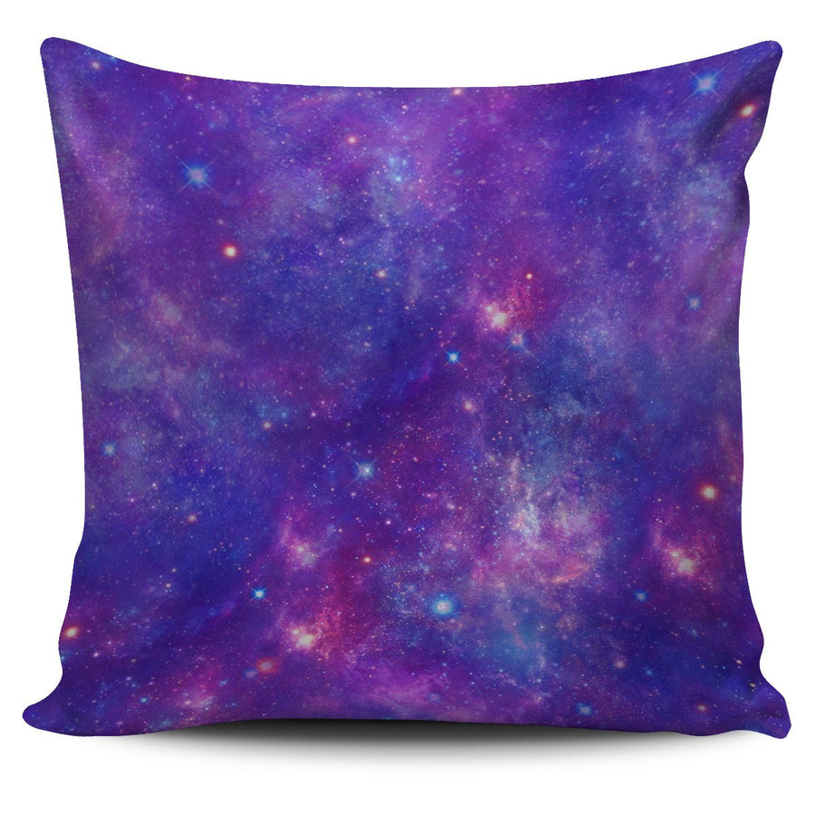 Purple Stardust Cloud Galaxy Space Print Pillow Cover