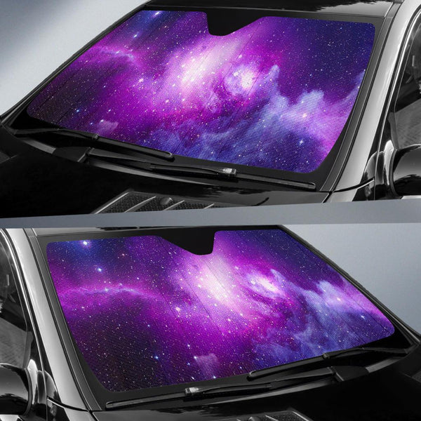 Purple Starfield Galaxy Space Print Car Sun Shade Gearfrost