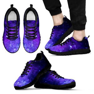 Purple Stars Nebula Galaxy Space Print Men's Sneakers GearFrost