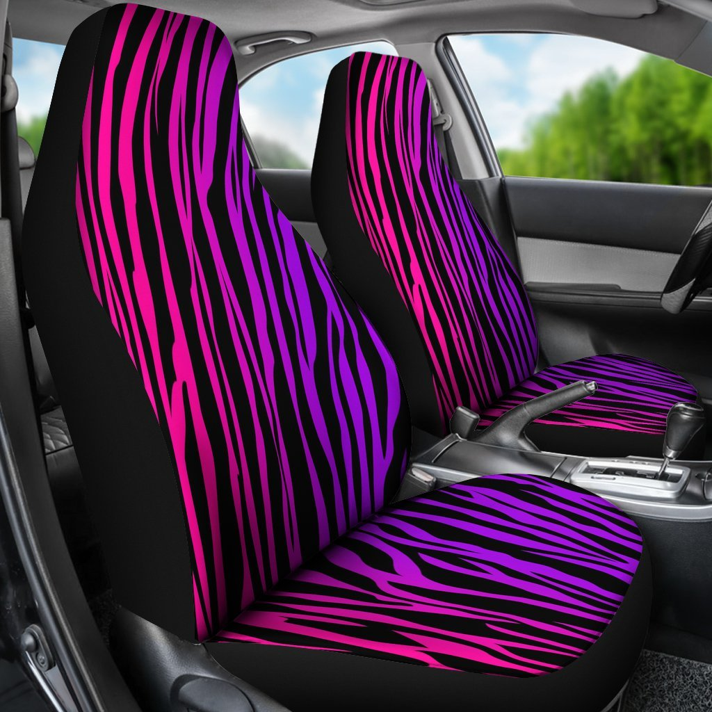 Tremendous Purple Zebra Print Universal Fit Car Seat Covers Gearfrost Short Links Chair Design For Home Short Linksinfo