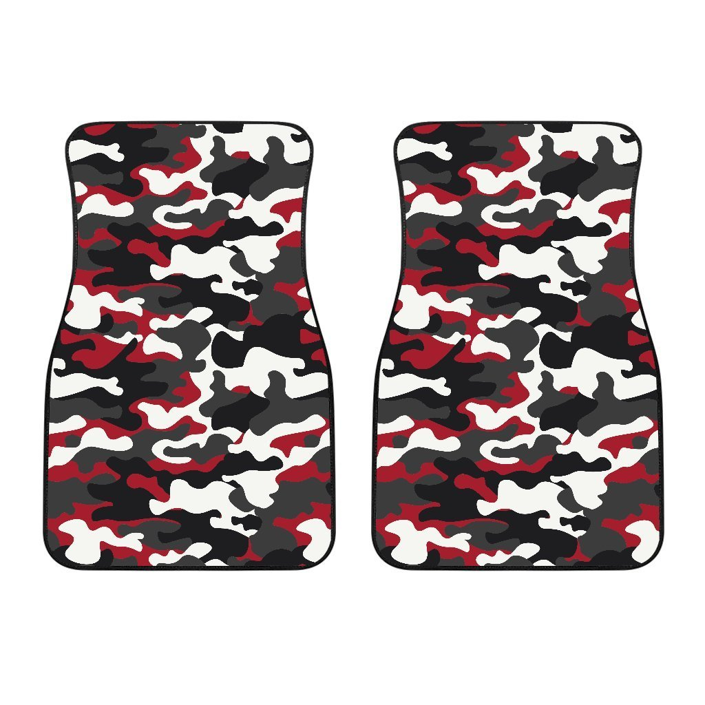 8a6f1ece4be00 Red Snow Camouflage Print Front Car Floor Mats – GearFrost