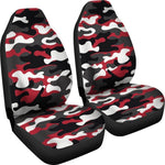 Red Snow Camouflage Print Universal Fit Car Seat Covers GearFrost