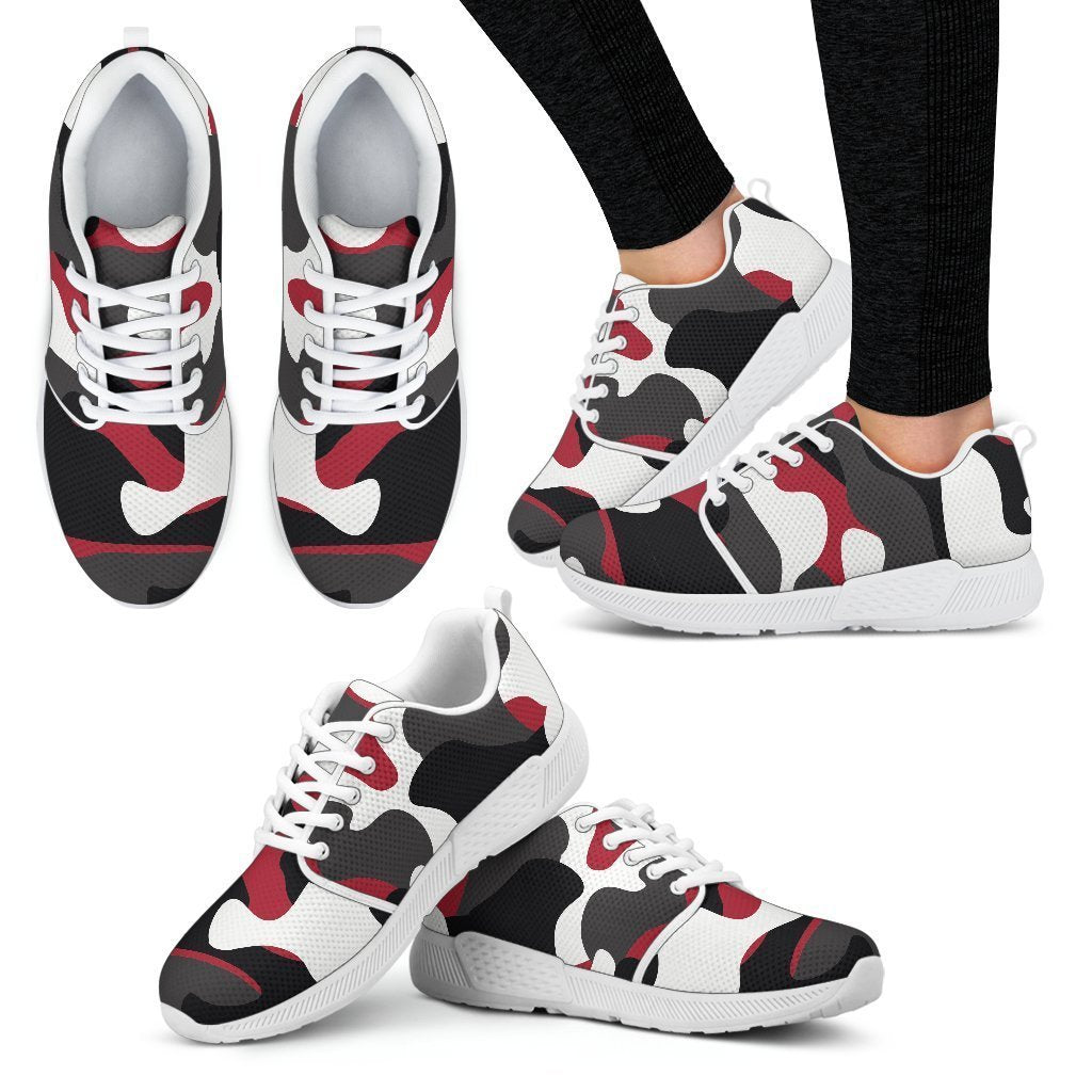 b20948b2f0a33 Red Snow Camouflage Print Women's Athletic Shoes – GearFrost