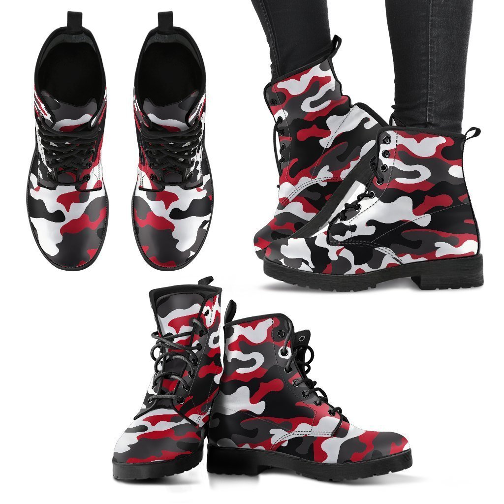 ec94b117a1dde Red Snow Camouflage Print Women's Boots – GearFrost