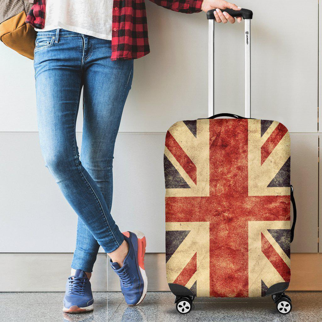 Retro Union Jack British Flag Print Luggage Cover GearFrost