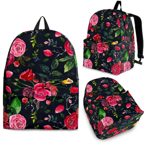 Roses Floral Flower Pattern Print Backpack GearFrost