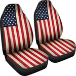 Rough American Flag Patriotic Universal Fit Car Seat Covers GearFrost