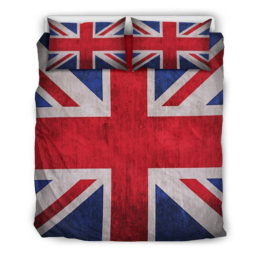 Rough Union Jack British Flag Print Duvet Cover Bedding Set GearFrost