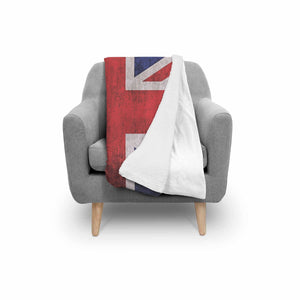 Rough Union Jack British Flag Print Sherpa Blanket GearFrost
