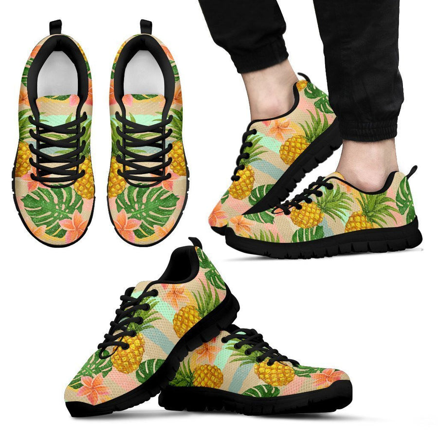 Sand Beach Pineapple Pattern Print Men's Sneakers GearFrost