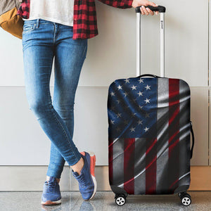 Silky American Flag Patriotic Luggage Cover GearFrost