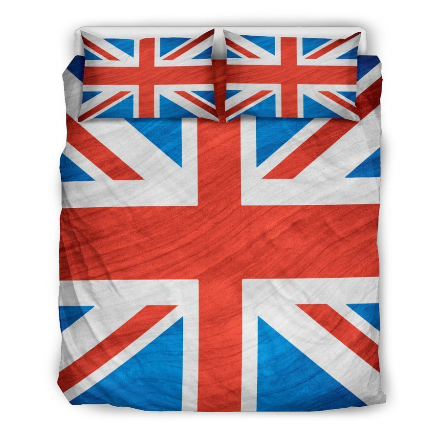 Silky Union Jack British Flag Print Duvet Cover Bedding Set GearFrost