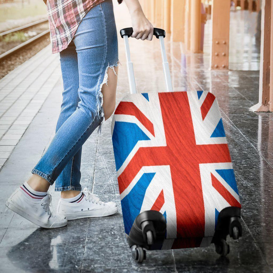 Silky Union Jack British Flag Print Luggage Cover GearFrost