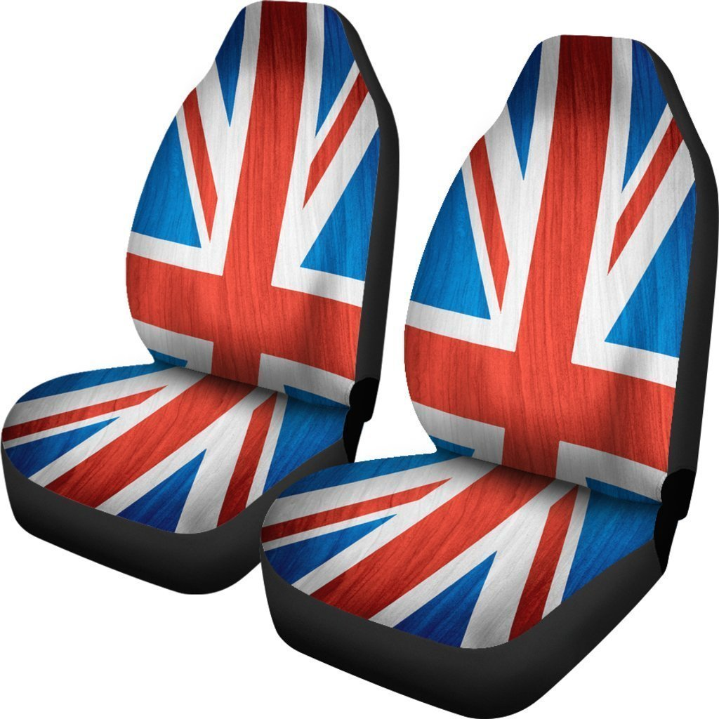 Silky Union Jack British Flag Print Universal Fit Car Seat Covers GearFrost