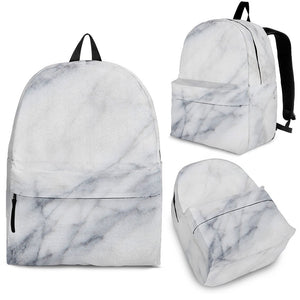 Smoke Grey Marble Print Backpack GearFrost