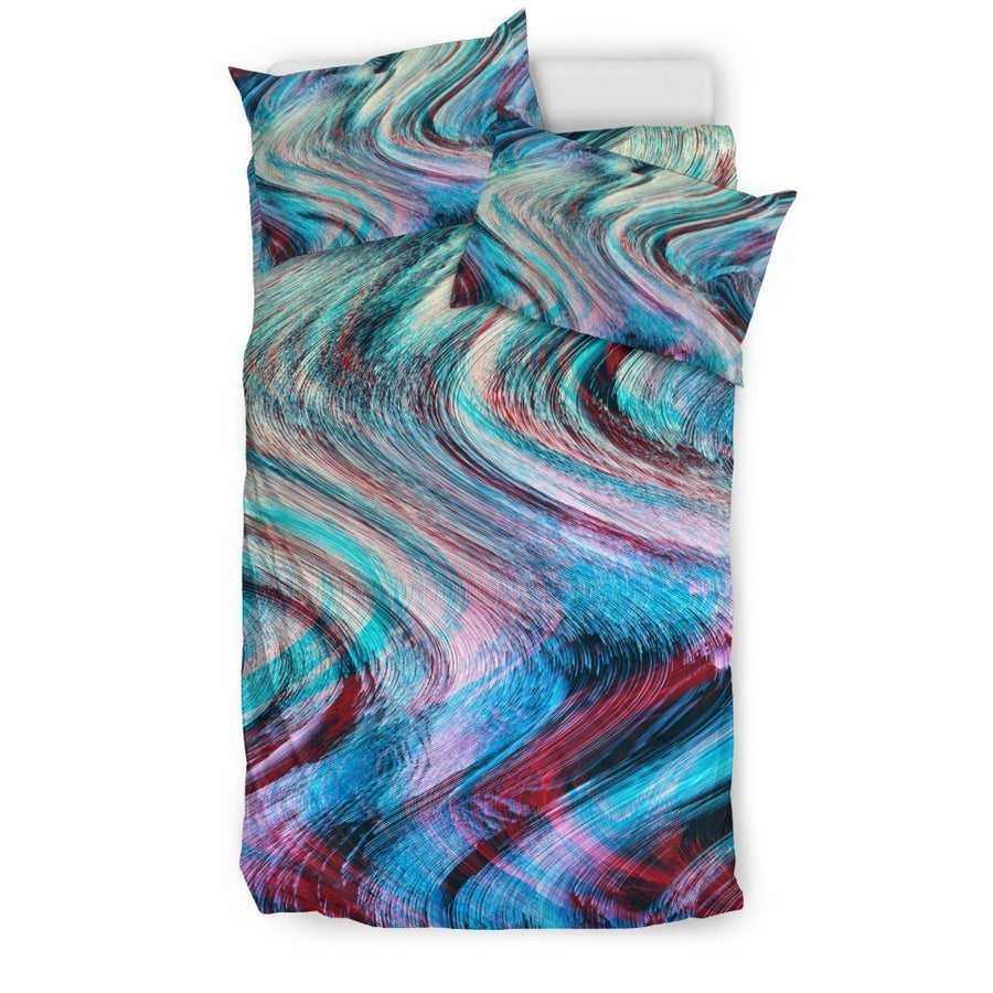 Smoke Psychedelic Trippy Print Duvet Cover Bedding Set GearFrost