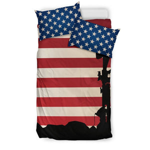 Soldier Memorial Duvet Cover Bedding Set GearFrost