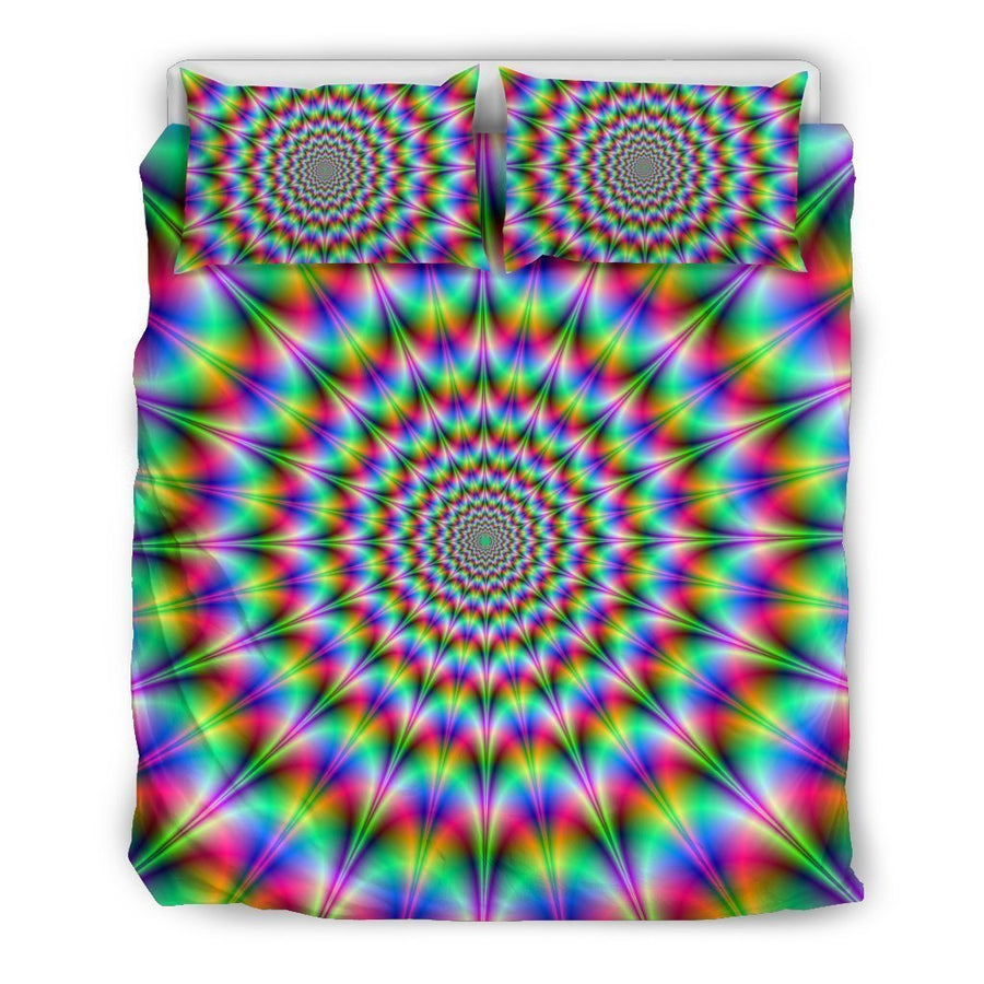 Spiky Psychedelic Optical Illusion Duvet Cover Bedding Set GearFrost