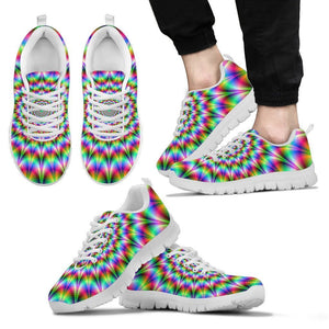 Spiky Psychedelic Optical Illusion Men's Sneakers GearFrost
