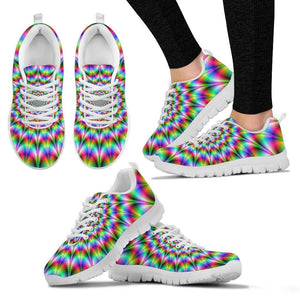 Spiky Psychedelic Optical Illusion Women's Sneakers GearFrost