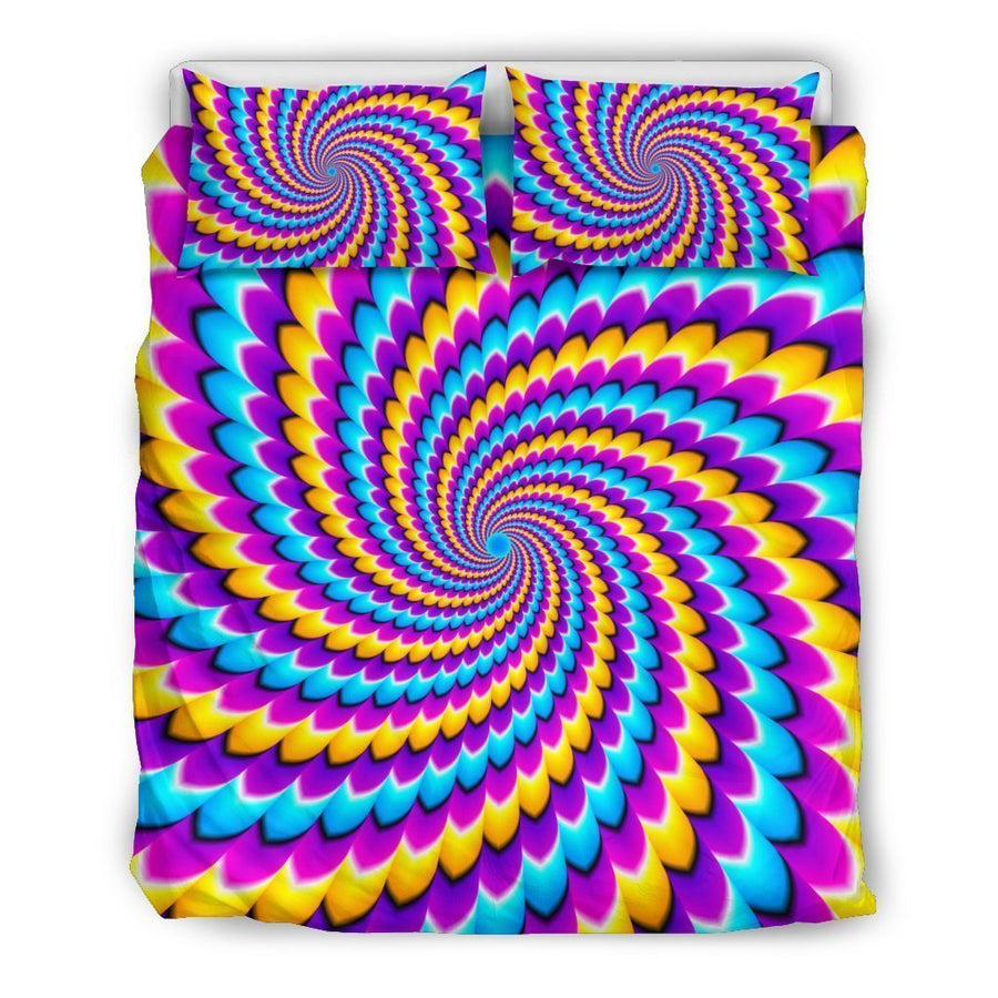 Spiral Colors Moving Optical Illusion Duvet Cover Bedding Set GearFrost