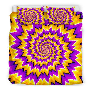 Spiral Expansion Moving Optical Illusion Duvet Cover Bedding Set GearFrost