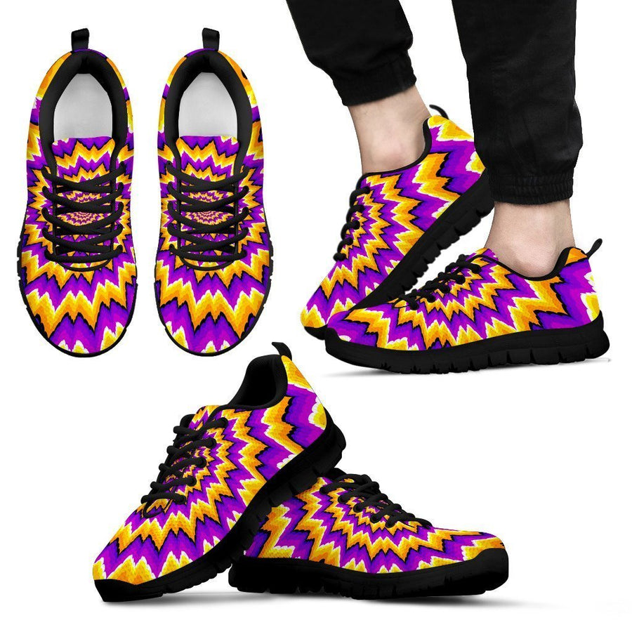 Spiral Expansion Moving Optical Illusion Men's Sneakers GearFrost