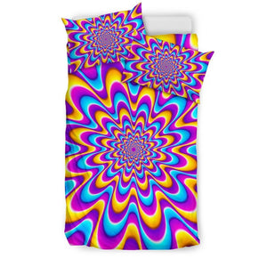 Splashing Colors Moving Optical Illusion Duvet Cover Bedding Set GearFrost