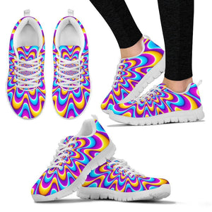 Splashing Colors Moving Optical Illusion Women's Sneakers GearFrost