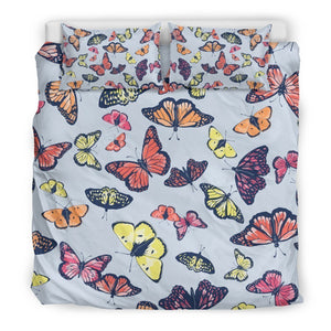 Spring Butterfly Pattern Print Duvet Cover Bedding Set GearFrost