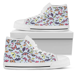 Spring Butterfly Pattern Print Men's High Top Shoes GearFrost