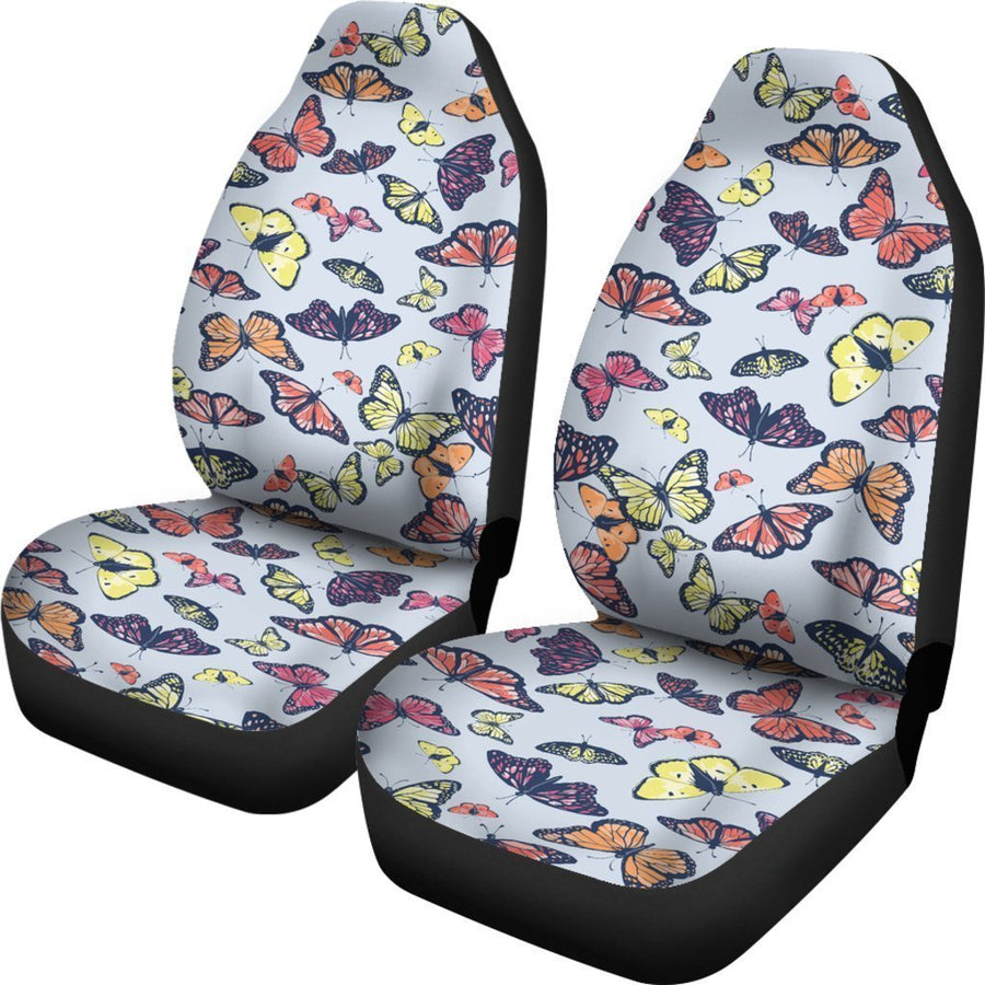 Spring Butterfly Pattern Print Universal Fit Car Seat Covers GearFrost