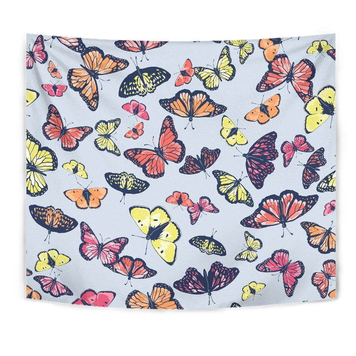Spring Butterfly Pattern Print Wall Tapestry GearFrost