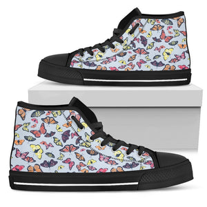 Spring Butterfly Pattern Print Women's High Top Shoes GearFrost