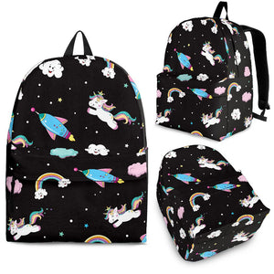 Star Space Unicorn Pattern Print Backpack GearFrost