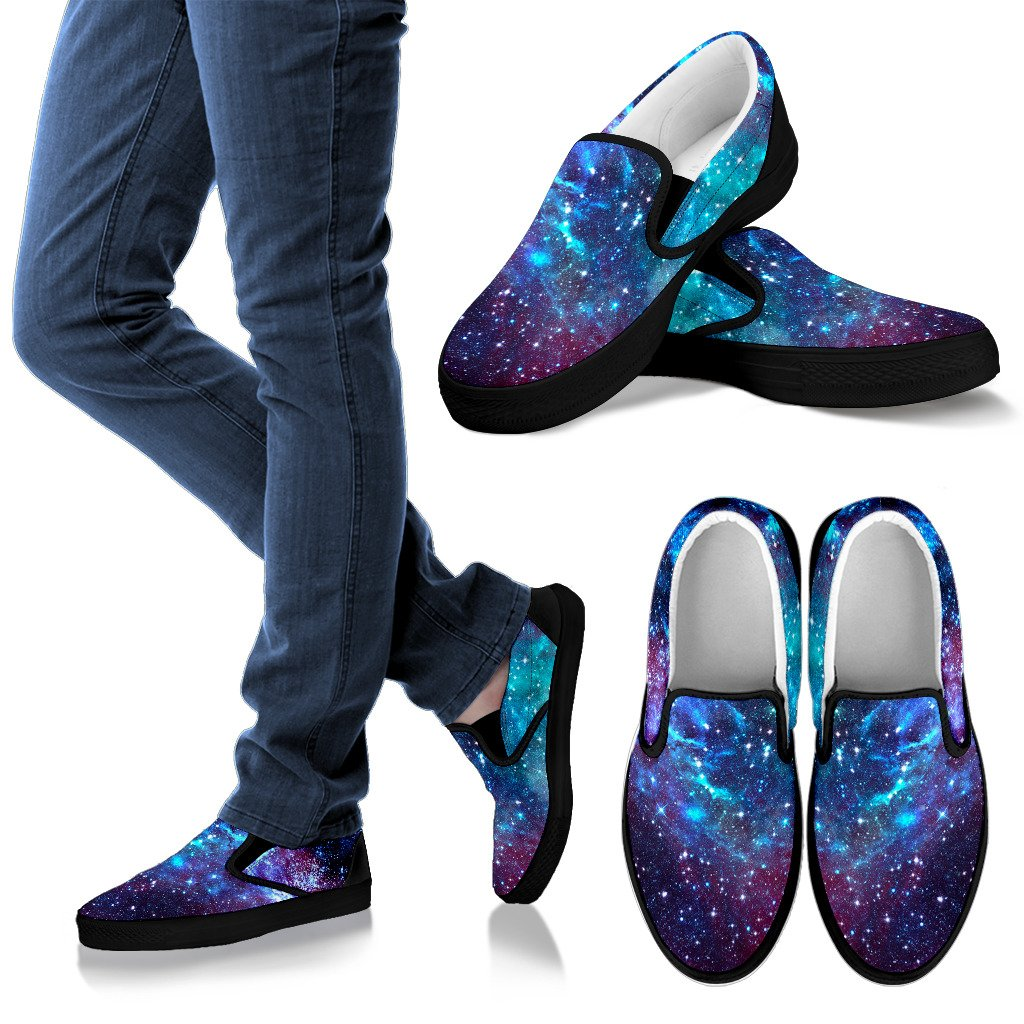 Starfield Nebula Galaxy Space Print Women's Slip On Shoes GearFrost